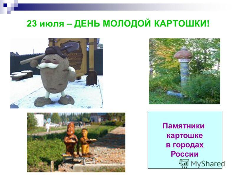 23 июля – ДЕНЬ МОЛОДОЙ КАРТОШКИ! Памятники картошке в городах России