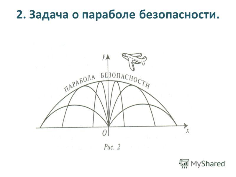 2. Задача о параболе безопасности.
