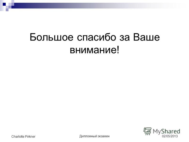 Презентация на тему Анализ англицизмов в русских блогах  9 Большое спасибо за Ваше внимание Дипломный экзамен charlotte pirkner 02 05 2013