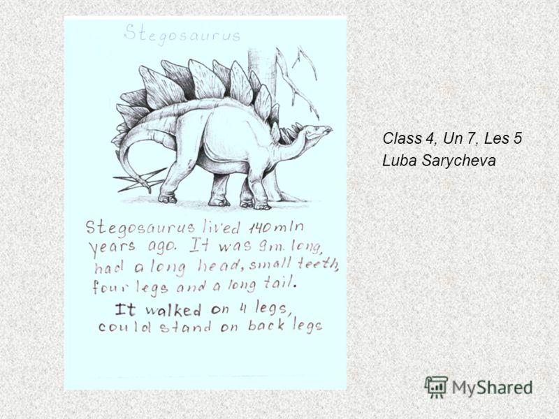 Class 4, Un 7, Les 5 Luba Sarycheva