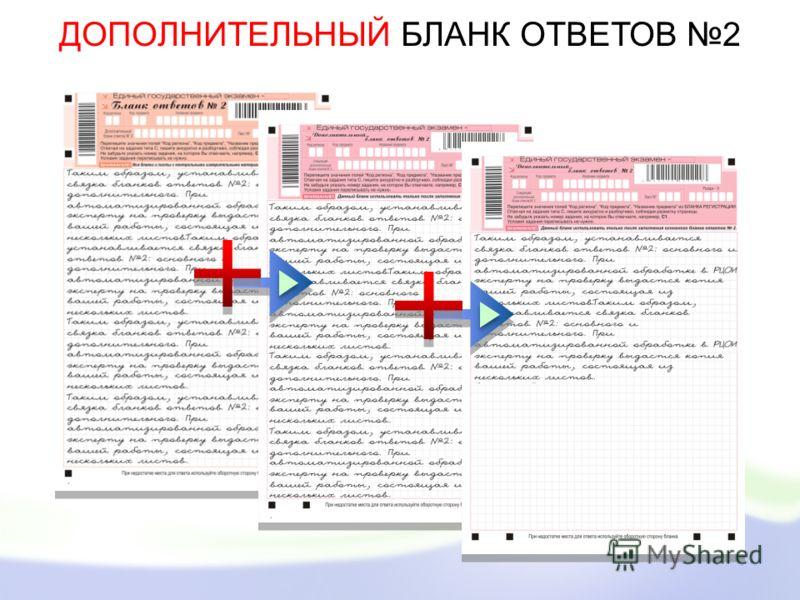 ДОПОЛНИТЕЛЬНЫЙ БЛАНК ОТВЕТОВ 2