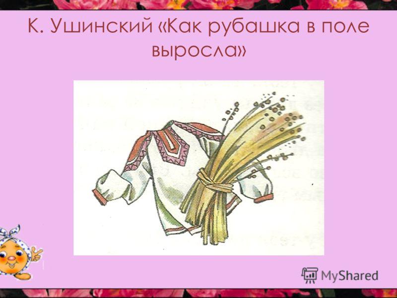 К. Ушинский «Как рубашка в поле выросла»