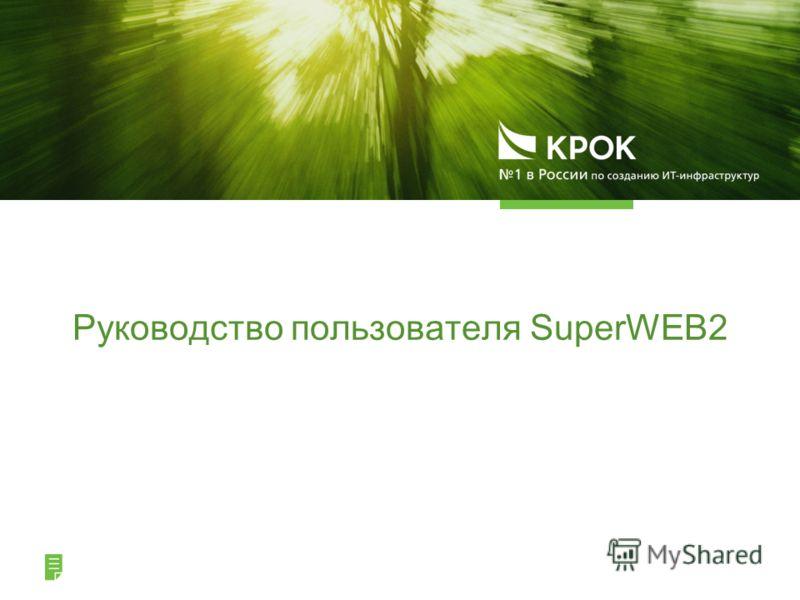 Руководство пользователя SuperWEB2