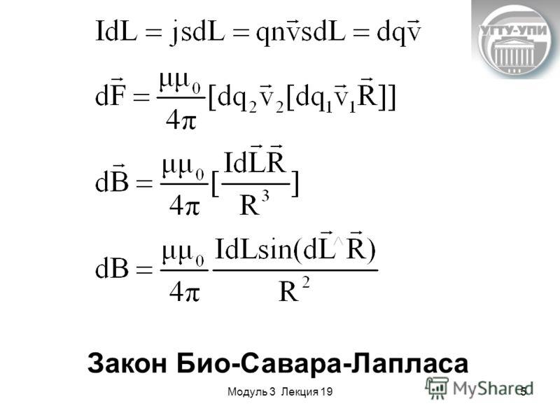 Модуль 3 Лекция 195 Закон Био-Савара-Лапласа
