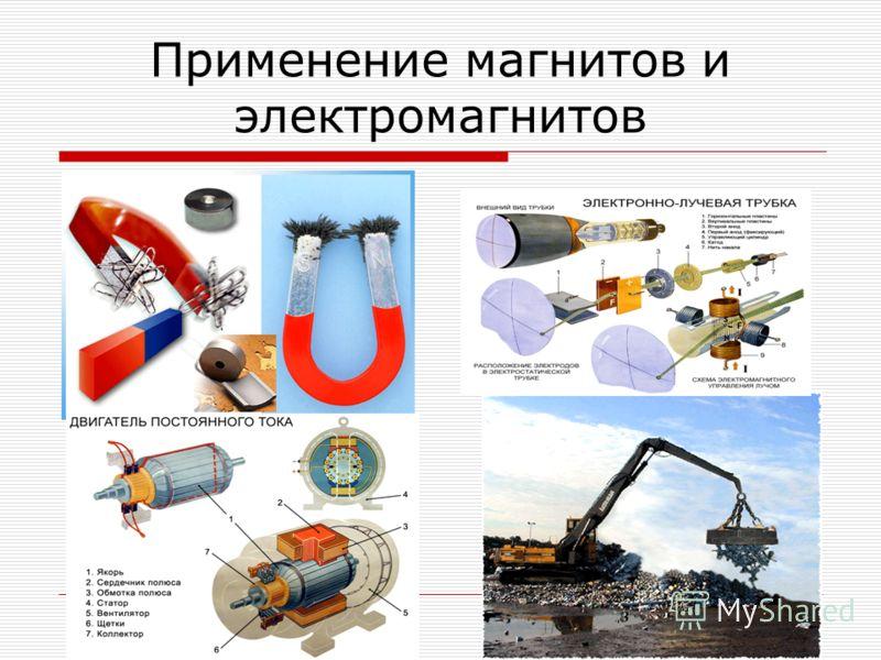 Применение магнитов и электромагнитов
