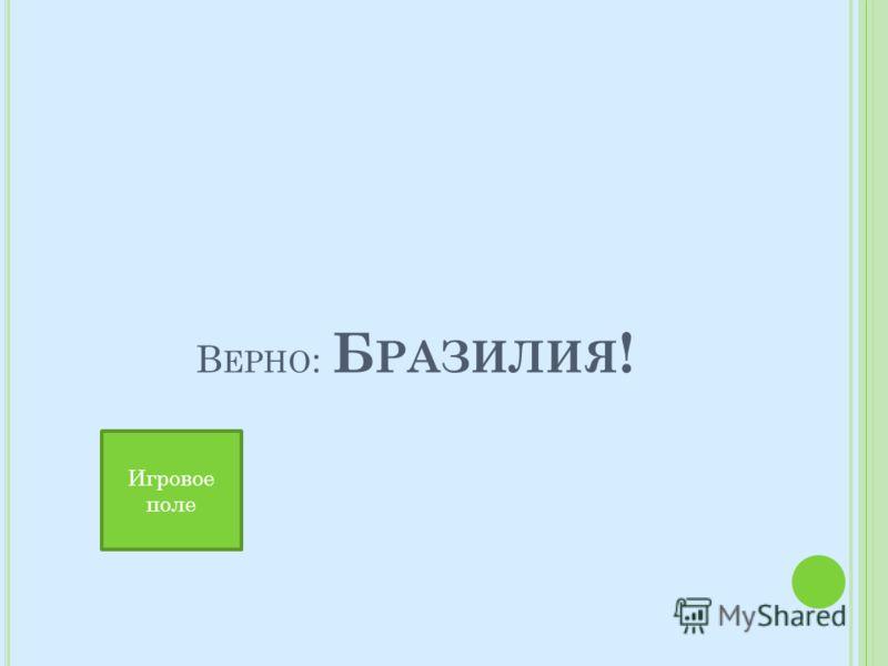 В ЕРНО : Б РАЗИЛИЯ ! Игровое поле