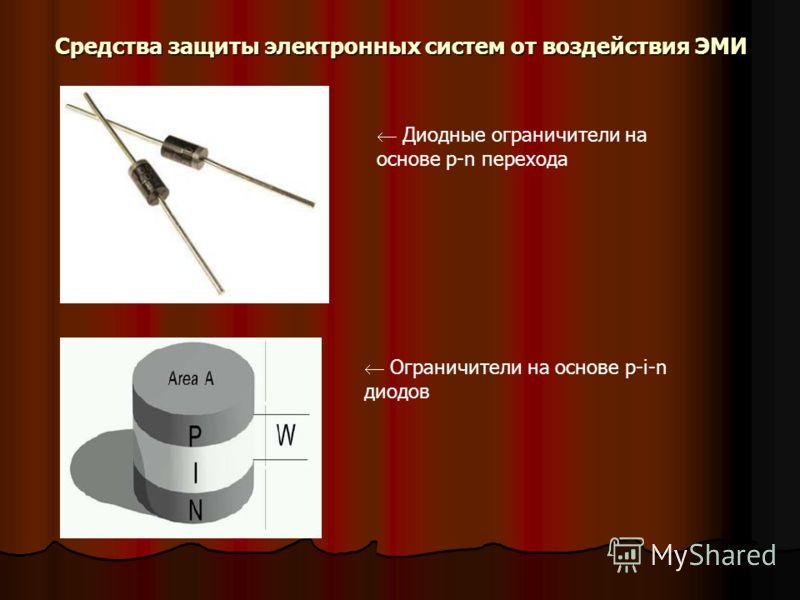 Средства защиты электронных систем от воздействия ЭМИ Диодные ограничители на основе p-n перехода Ограничители на основе p-i-n диодов