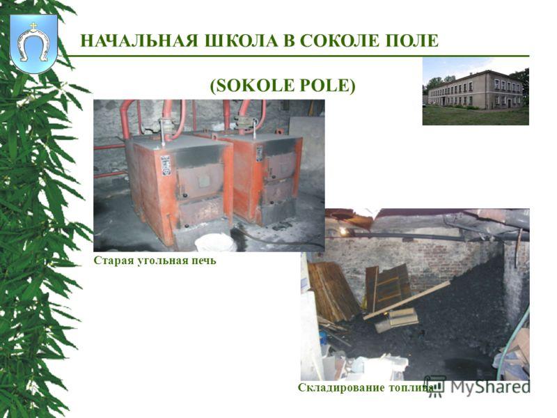 Складирование топлива НАЧАЛЬНАЯ ШКОЛА В СОКОЛЕ ПОЛЕ (SOKOLЕ POLЕ) Старая угольная печь