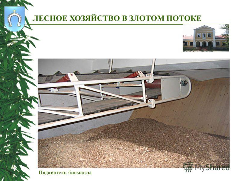 ЛЕСНОЕ ХОЗЯЙСТВО В ЗЛОТОМ ПОТОКЕ Подаватель биомассы