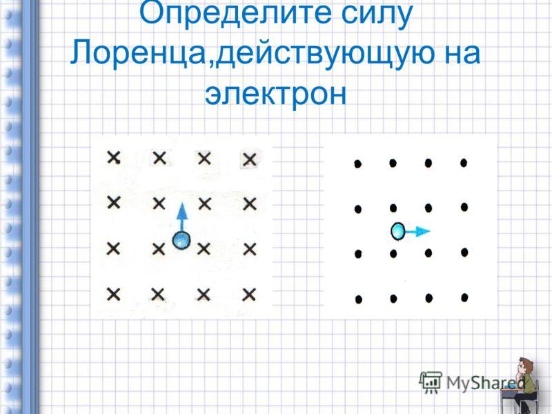 Определите силу Лоренца,действующую на электрон