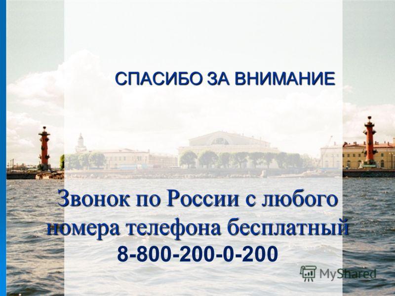 Звонок по России с любого номера телефона бесплатный Звонок по России с любого номера телефона бесплатный 8-800-200-0-200 СПАСИБО ЗА ВНИМАНИЕ
