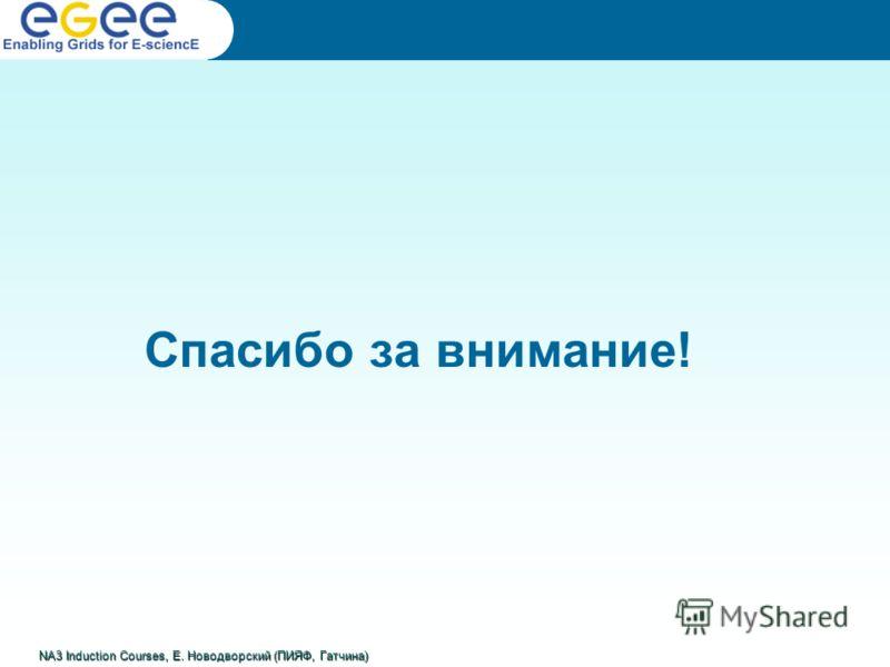 Спасибо за внимание! NA3 Induction Courses, Е. Новодворский (ПИЯФ, Гатчина)