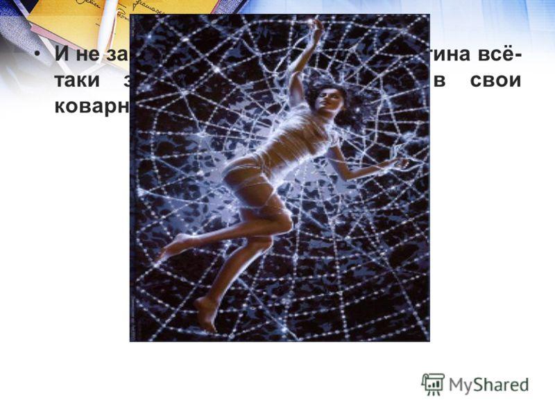 И не заметил он, как Интернет-паутина всё- таки затянула Смайл-царевну в свои коварные сети.