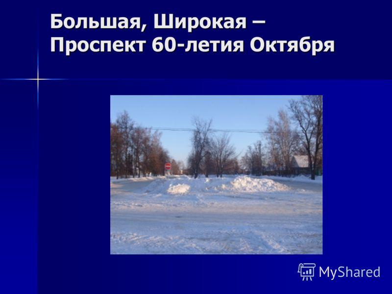 Большая, Широкая – Проспект 60-летия Октября