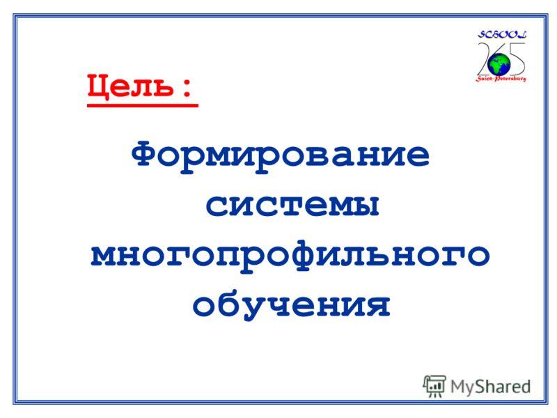Цель: Формирование системы многопрофильного обучения