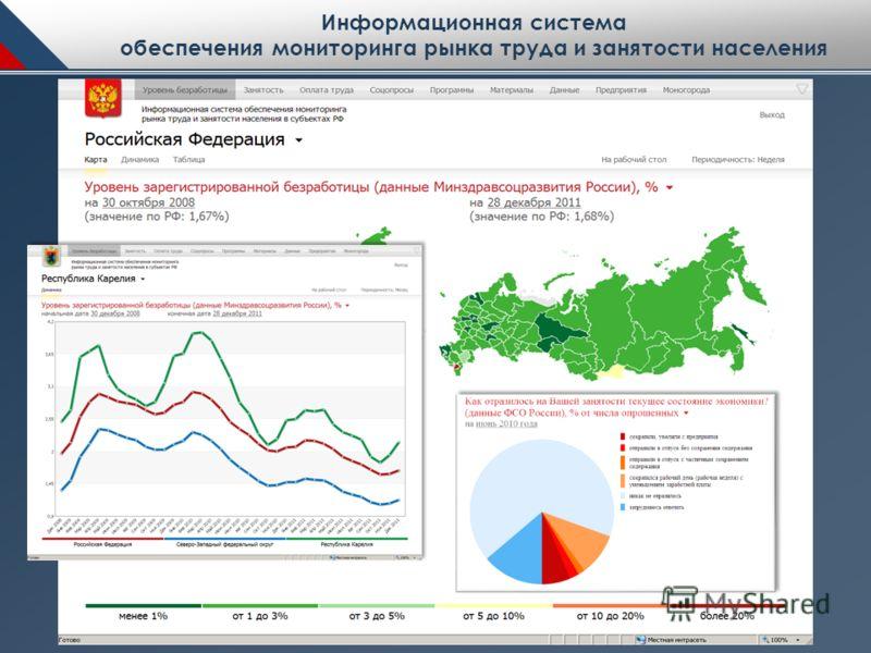 Информационная система обеспечения мониторинга рынка труда и занятости населения