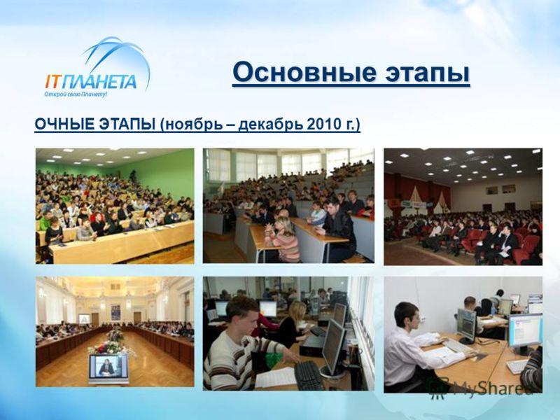 Основные этапы ОЧНЫЕ ЭТАПЫ (ноябрь – декабрь 2010 г.)
