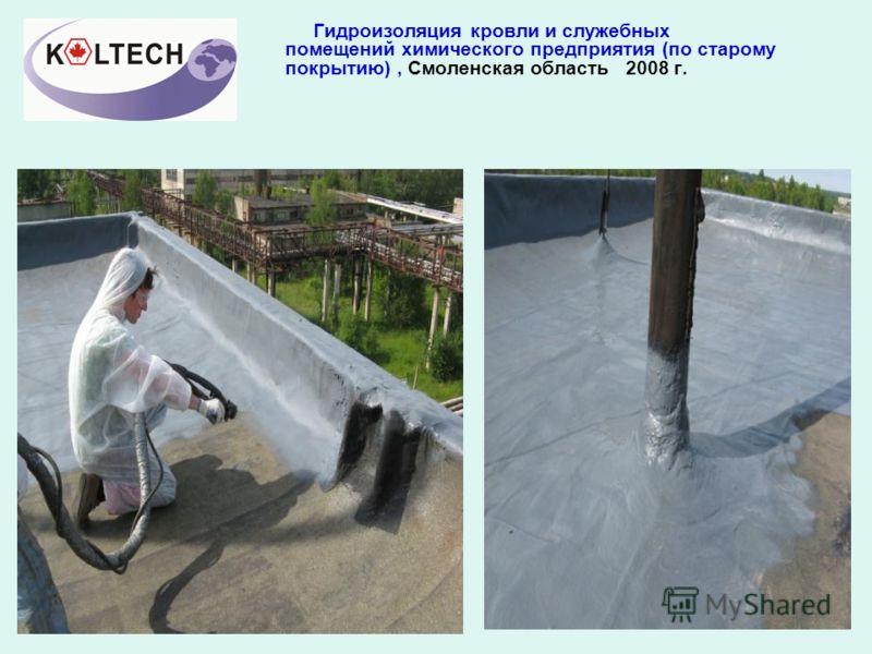 Гидроизоляция кровли и служебных помещений химического предприятия (по старому покрытию), Смоленская область 2008 г.