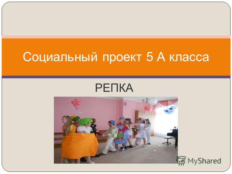 РЕПКА Социальный проект 5 А класса