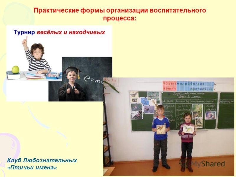 Практические формы организации воспитательного процесса: Клуб Любознательных «Птичьи имена»