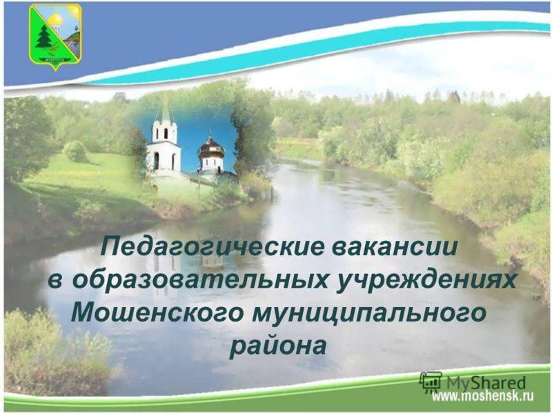 Педагогические вакансии в образовательных учреждениях Мошенского муниципального района