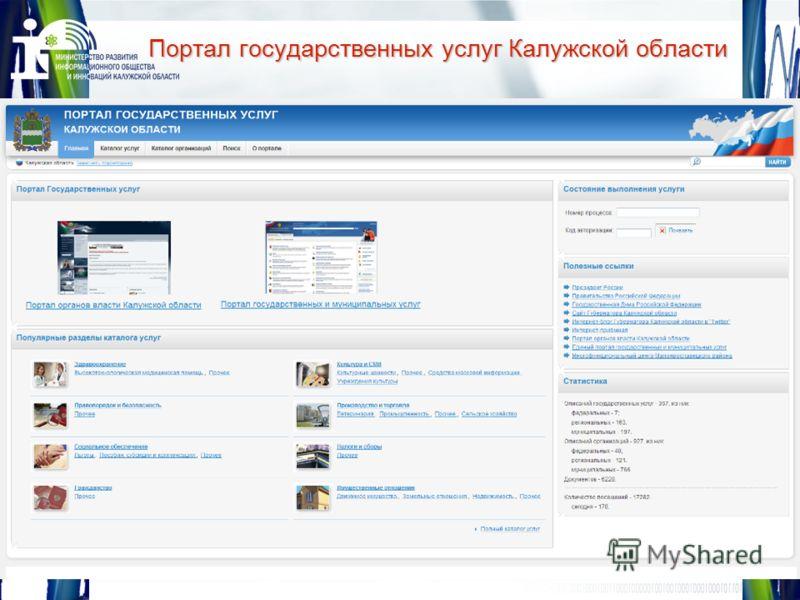 12 Портал государственных услуг Калужской области