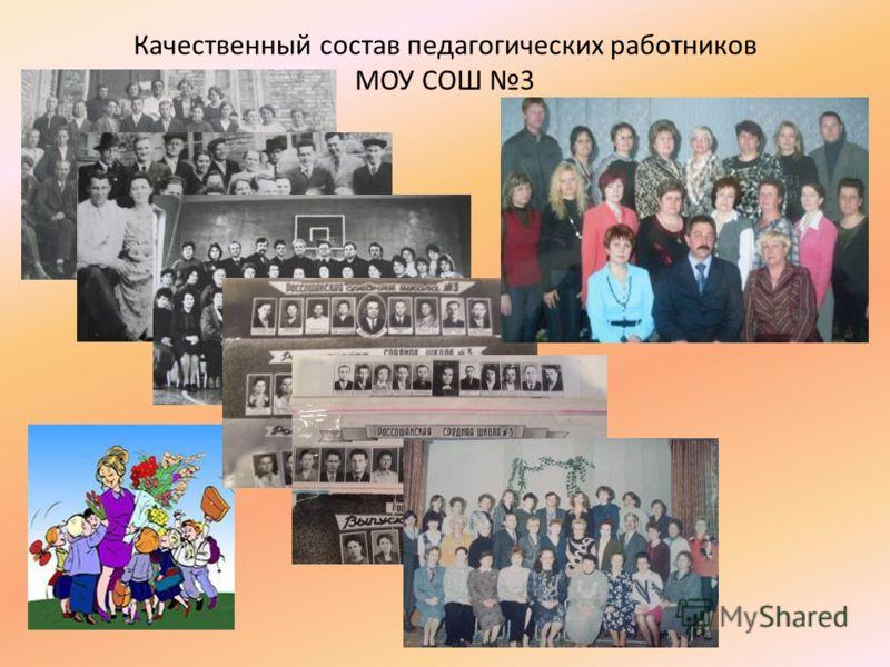 Качественный состав педагогических работников МОУ СОШ 3