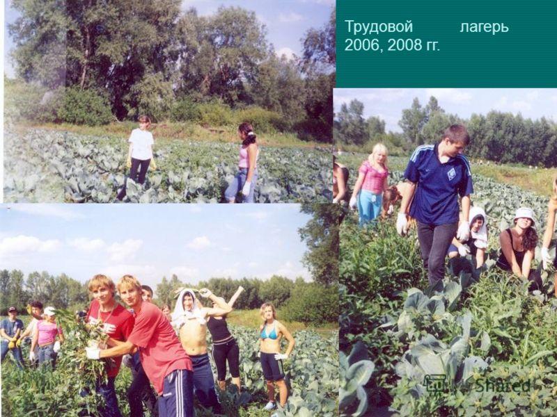Трудовой лагерь 2006, 2008 гг.