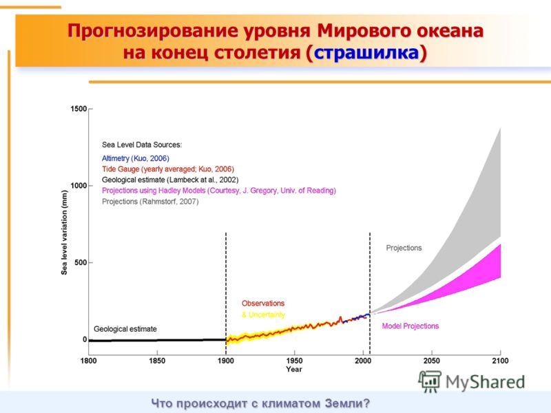 Прогнозирование уровня Мирового океана на конец столетия (страшилка) Что происходит с климатом Земли?
