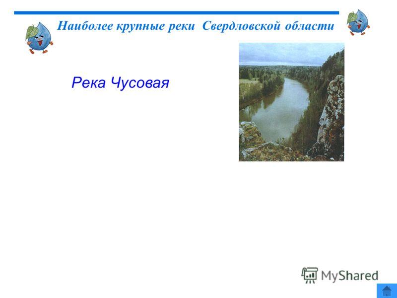 Река Чусовая Наиболее крупные реки Свердловской области