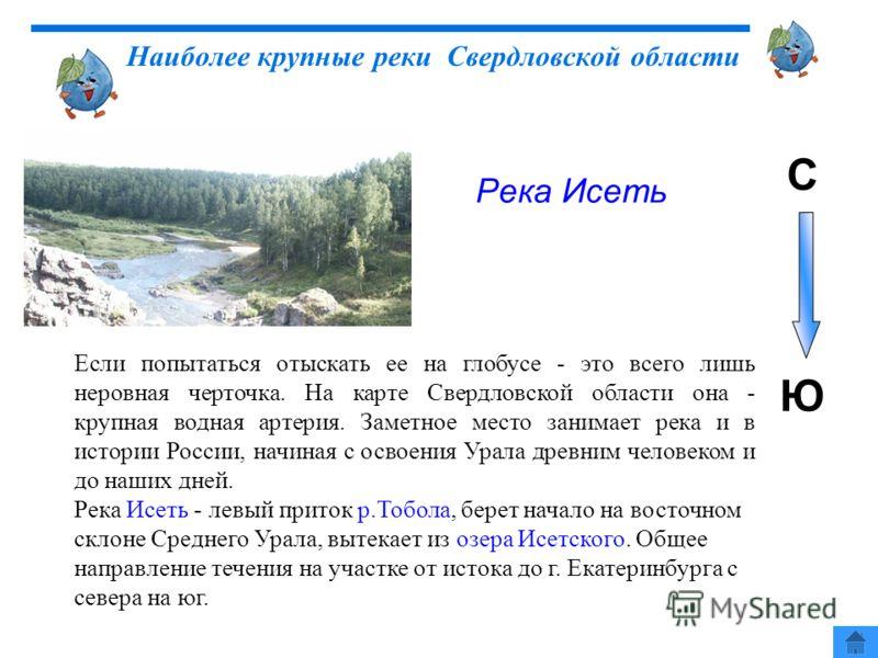 Если попытаться отыскать ее на глобусе - это всего лишь неровная черточка. На карте Свердловской области она - крупная водная артерия. Заметное место занимает река и в истории России, начиная с освоения Урала древним человеком и до наших дней. Река И