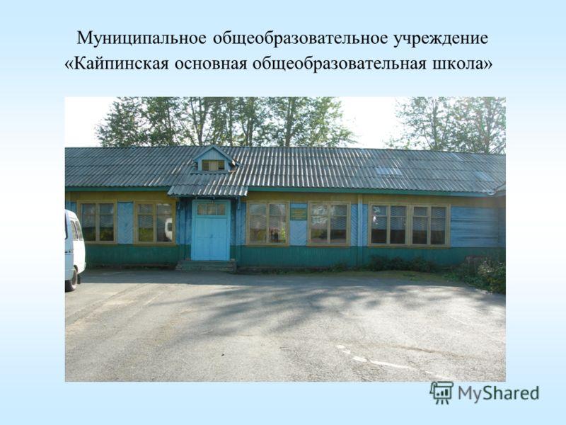 Муниципальное общеобразовательное учреждение «Кайпинская основная общеобразовательная школа»
