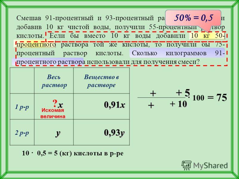 10 процентный раствор кислоты
