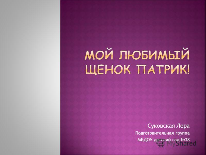 Суковская Лера Подготовительная группа МБДОУ детский сад 38