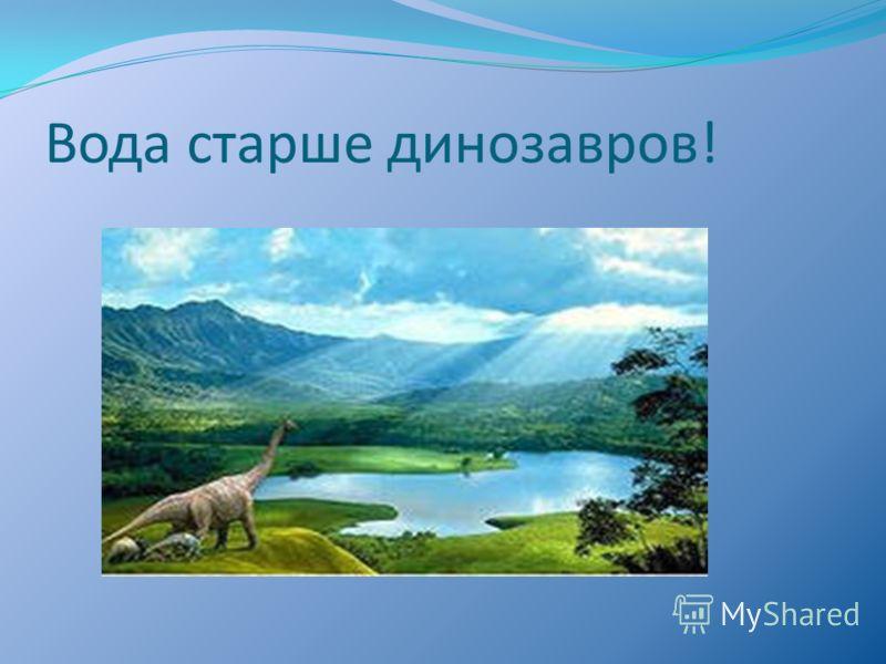 Вода старше динозавров!