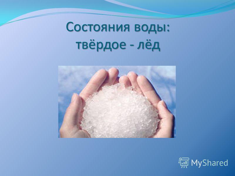 Состояния воды: твёрдое - лёд