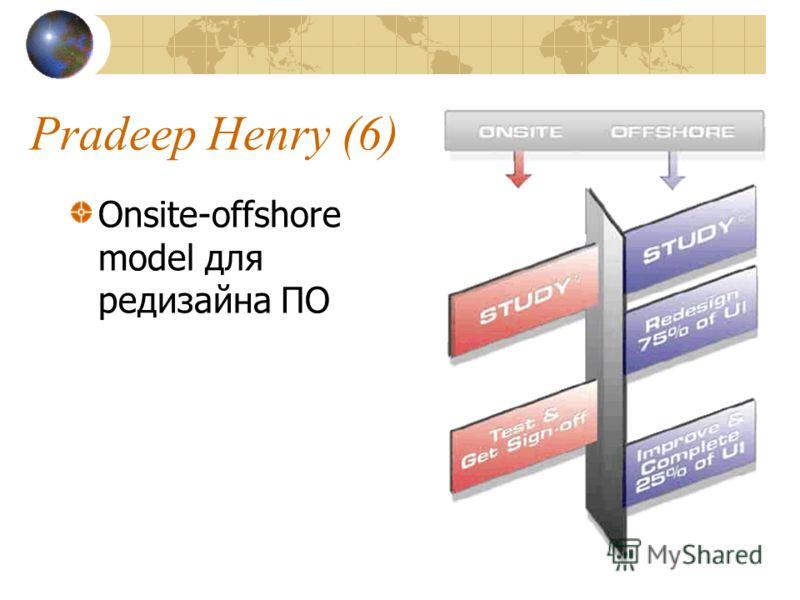 Pradeep Henry (6) Onsite-offshore model для редизайна ПО