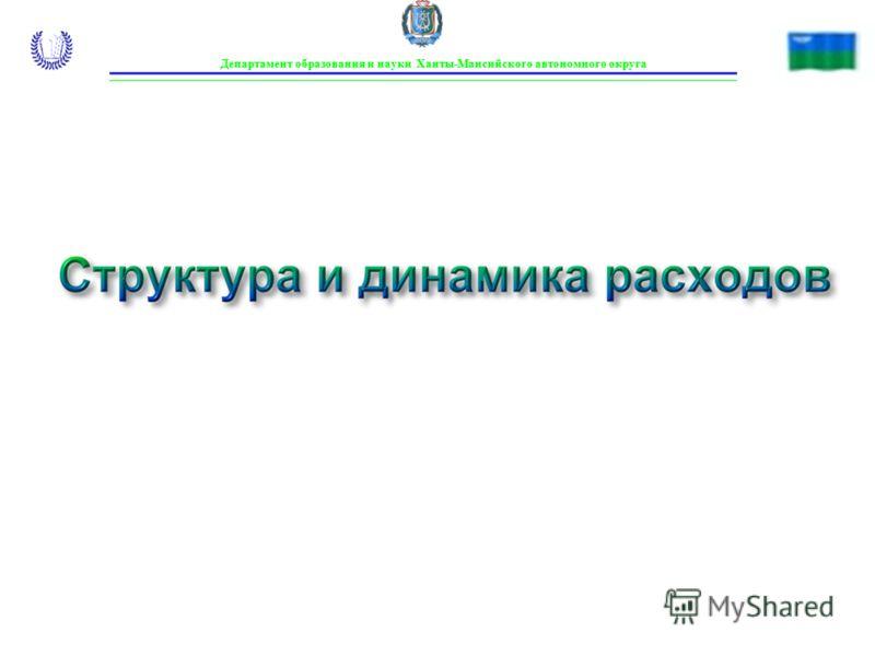 Структура и динамика расходов Департамент образования и науки Ханты-Мансийского автономного округа