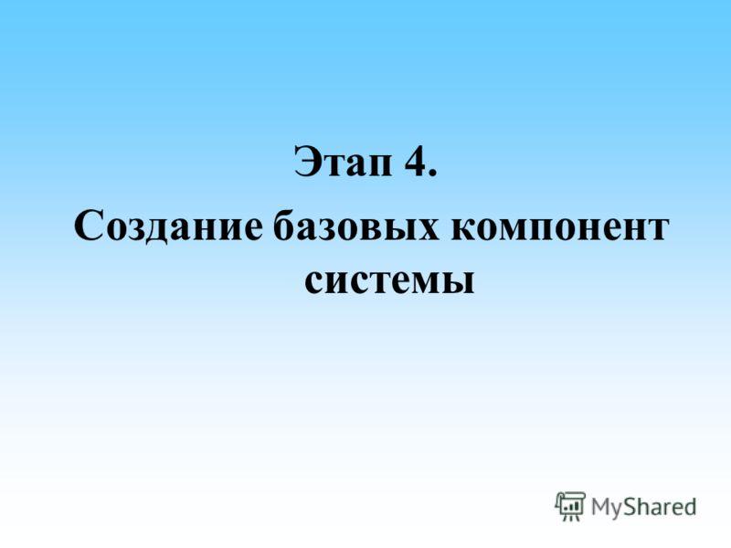 Этап 4. Создание базовых компонент системы