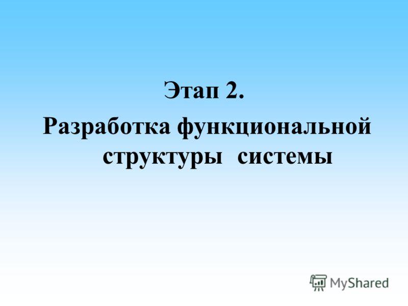 Этап 2. Разработка функциональной структуры системы