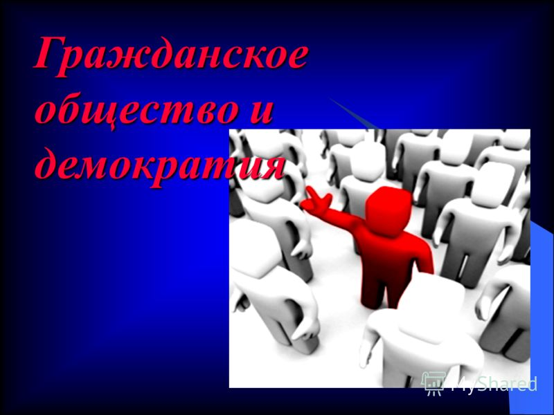Гражданское общество и демократия