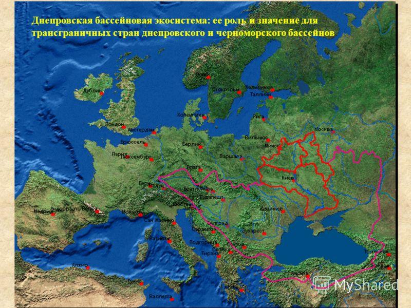 Днепровская бассейновая экосистема: ее роль и значение для трансграничных стран днепровского и черноморского бассейнов