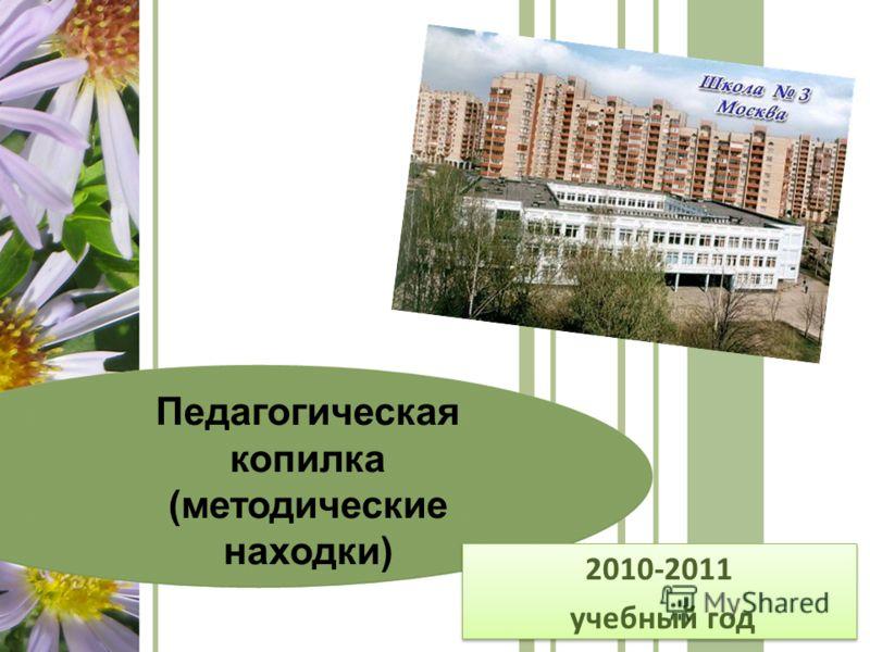 2010-2011 учебный год 2010-2011 учебный год Педагогическая копилка (методические находки)
