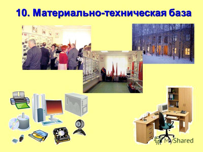 10. Материально-техническая база