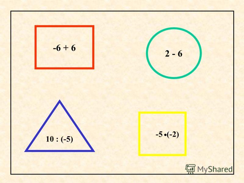 -6 + 6 2 - 6 10 : (-5) -5 (-2)
