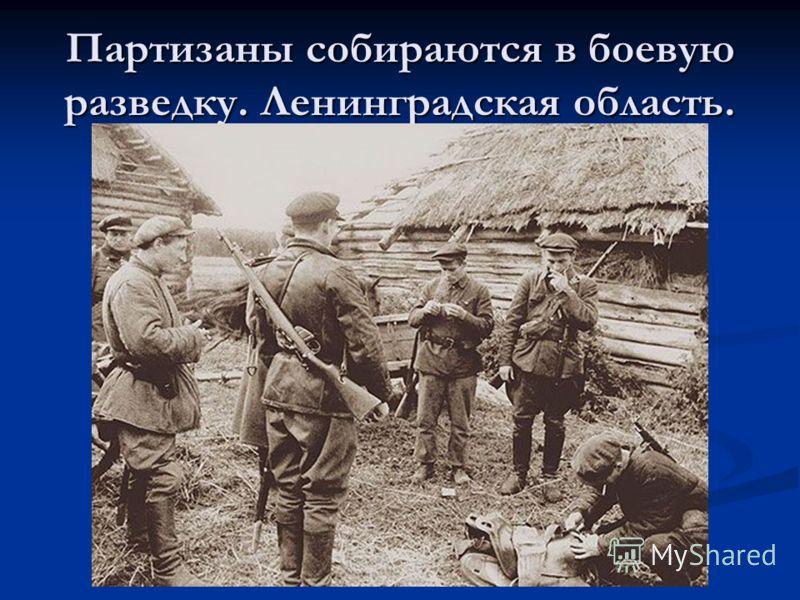 Партизаны собираются в боевую разведку. Ленинградская область.