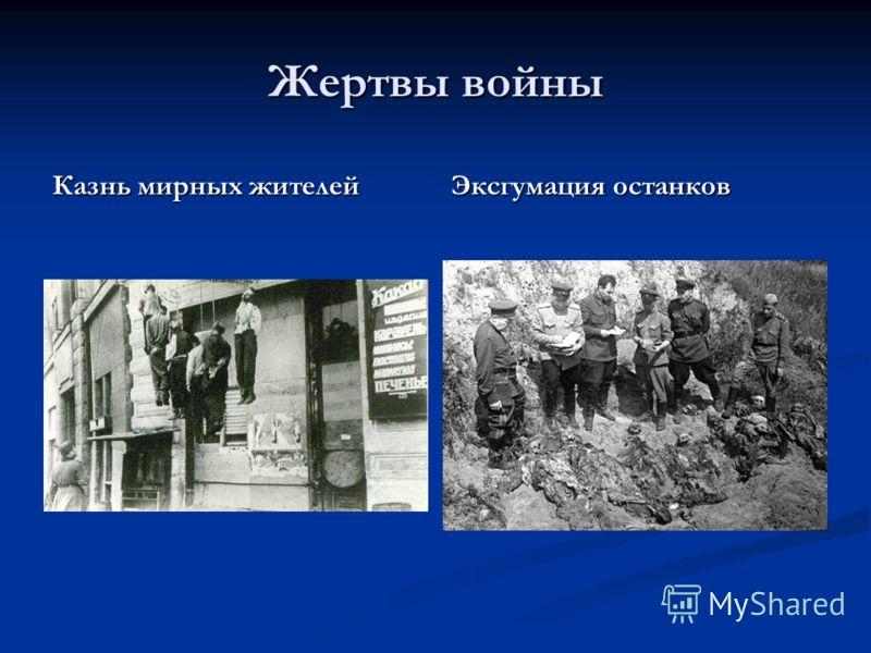 Жертвы войны Казнь мирных жителей Эксгумация останков