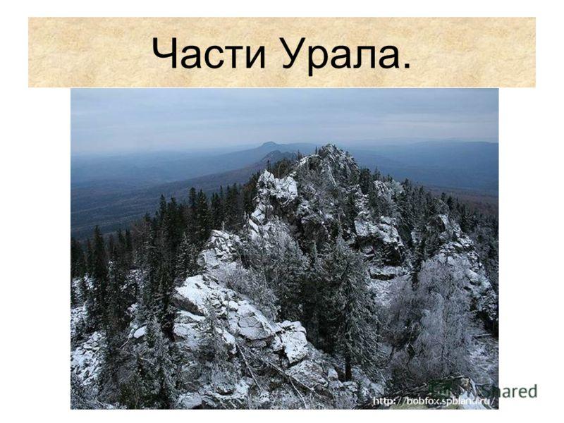 Части Урала.