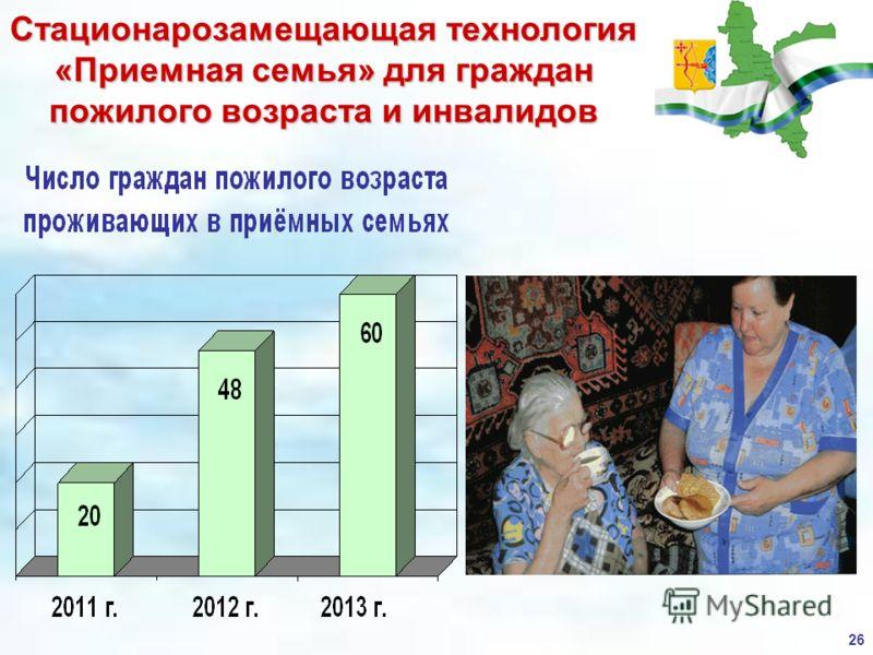 Стационарозамещающая технология «Приемная семья» для граждан пожилого возраста и инвалидов 26