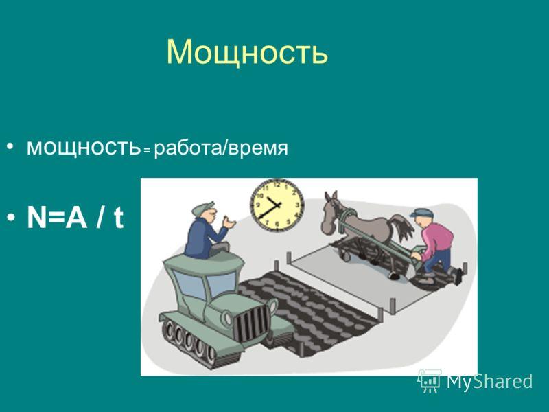 Единицы работы 1 Дж=1Н·1м 1кДж=1000 Дж 1МДж=1000 000Дж 1мДж=0,001Дж